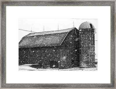 Black And White Barn Framed Print by Tim Buisman