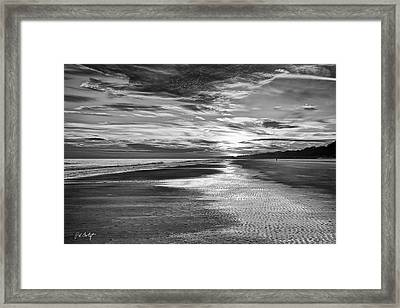 Black And White Beach Framed Print by Phill Doherty
