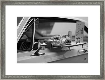 Black And White Carhop Framed Print by Dan Sproul
