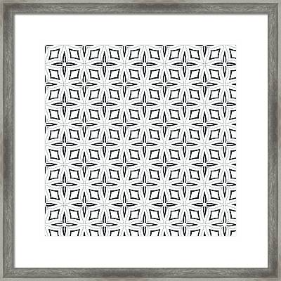 Black And White Designs Framed Print by Savvycreative Designs
