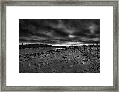 Black And White Early Morning January 2015 Framed Print by Leif Sohlman