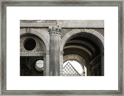 Black And White Image Of Architectural Framed Print by Philippe Widling