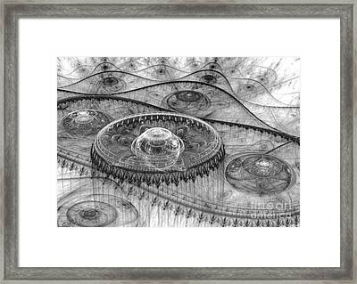 Black And White Mystery Framed Print by Martin Capek