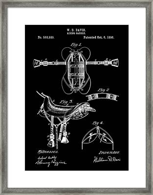 Black And White Saddle Patent Framed Print by Dan Sproul
