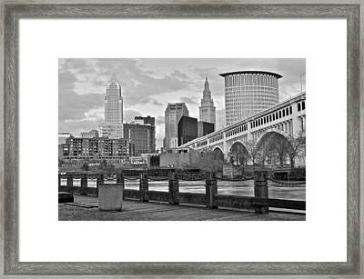 Black And White Skyline Framed Print by Frozen in Time Fine Art Photography