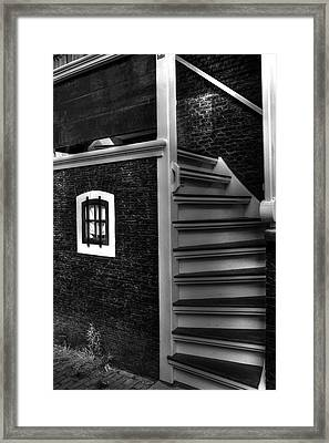 Black And White Stairs Framed Print by Sophie Vigneault