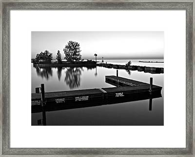 Black And White Sunset Framed Print by Frozen in Time Fine Art Photography