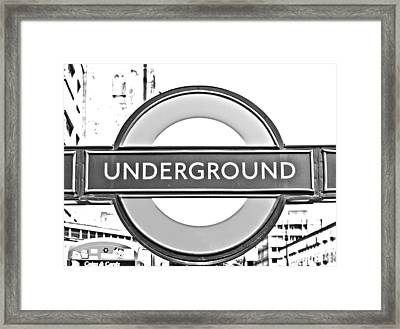 Black And White Underground Framed Print by Georgia Fowler