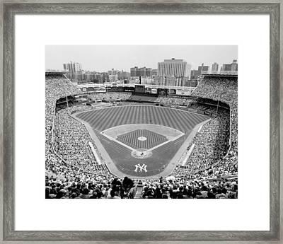 Black And White Yankee Stadium Framed Print by Horsch Gallery