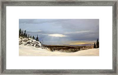 Black Bear Ski Trail Framed Print by Ken Ahlering