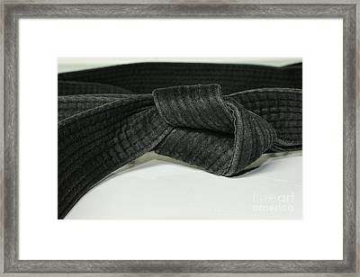 Black Belt Framed Print by Paul Ward
