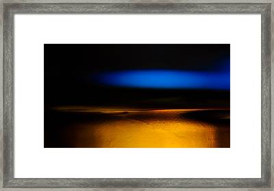 Black Blue Yellow Framed Print by Bob Orsillo