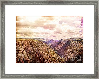 Black Canyon Colorado Framed Print by Janice Rae Pariza