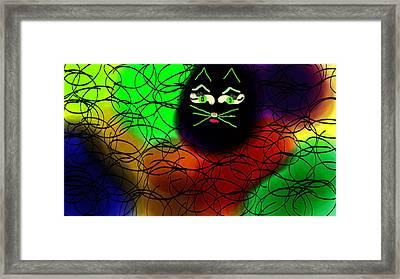 Black Cat Dreams Framed Print by Rosana Ortiz