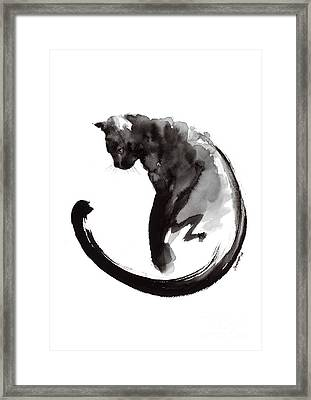 Black Cat Framed Print by Mariusz Szmerdt