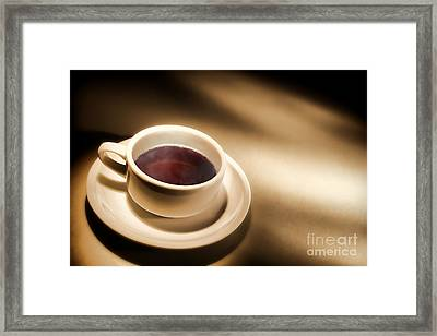Black Coffee Framed Print by Olivier Le Queinec