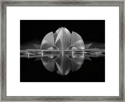Black Contrast Framed Print by Nimit Nigam