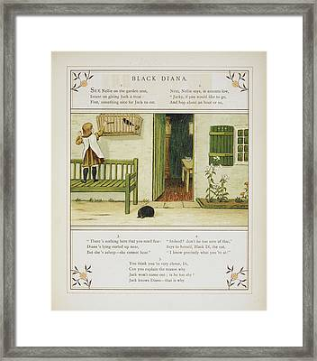 Black Diana Framed Print by British Library