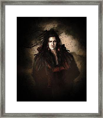 Black Feather Crow Clan Framed Print by Shanina Conway