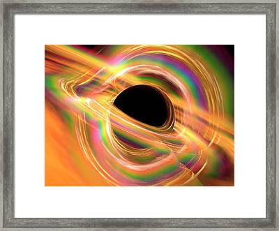 Black Hole Framed Print by Alfred Pasieka