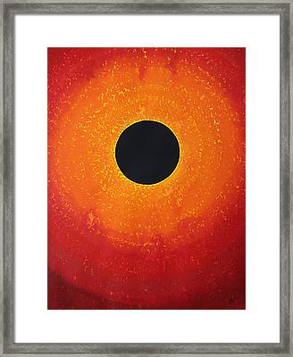Black Hole Sun Original Painting Framed Print by Sol Luckman