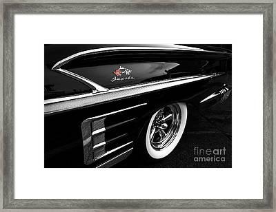 Black Impala Framed Print by Dennis Hedberg
