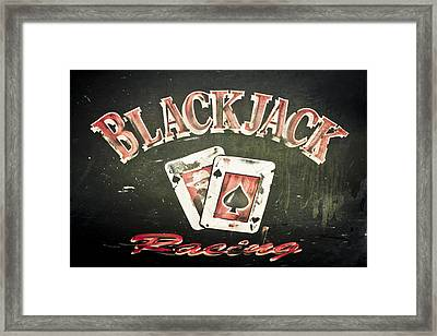 Black Jack Racing Framed Print by Phil 'motography' Clark