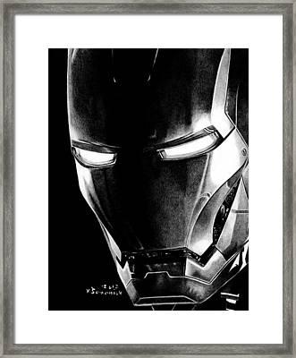 Black Led Avenger Framed Print by Kayleigh Semeniuk