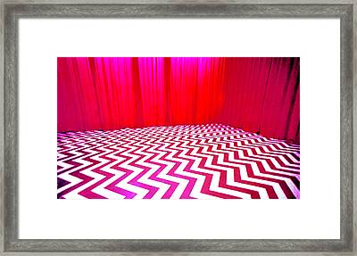 Black Lodge Magenta Framed Print by Luis Ludzska