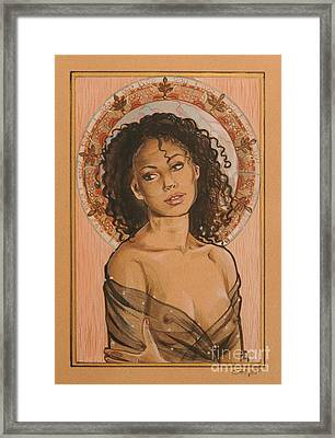 Black Madonna Framed Print by Ottilia Zakany