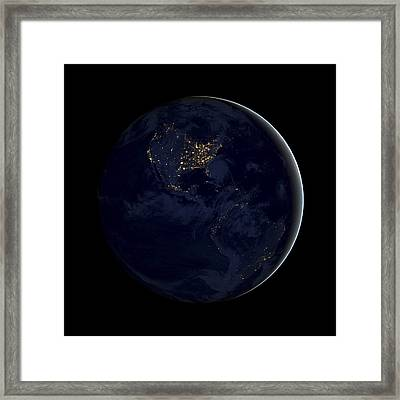 Black Marble Framed Print by Adam Romanowicz