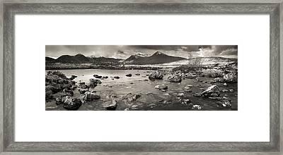 Black Mount From Rannoch Moor Framed Print by Maciej Markiewicz