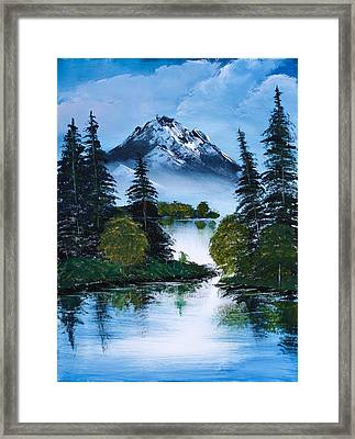 Black Mountain Framed Print by Shannon Wells