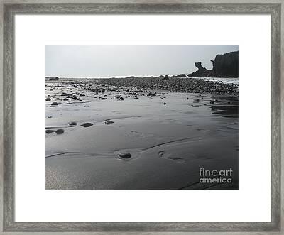 Black On Grey Framed Print by Stav Stavit Zagron