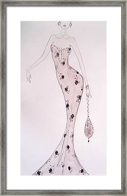 Black Orchid Gown Framed Print by Christine Corretti