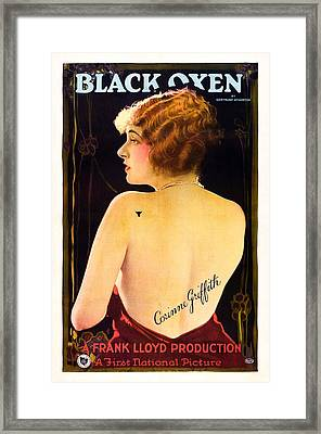 Black Oxen, Corinne Griffith On Poster Framed Print by Everett