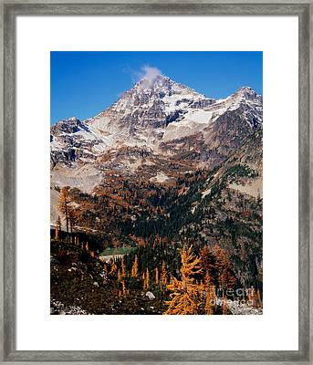 Black Peak Above Maple Pass Framed Print by Tracy Knauer