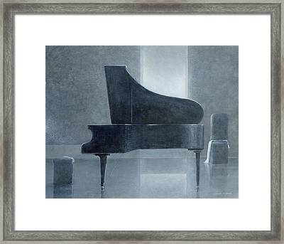 Black Piano 2004 Framed Print by Lincoln Seligman
