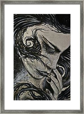 Black Portrait 4 Framed Print by Sandro Ramani