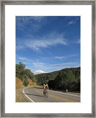 Black Range Biker Framed Print by Feva  Fotos