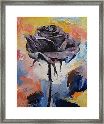 Black Rose Framed Print by Michael Creese