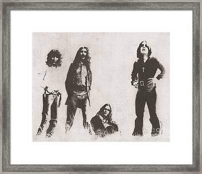 Black Sabbath Framed Print by Jeff Ridlen