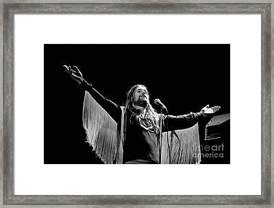 Black Sabbath Ozzy 1977 #2 Framed Print by Chris Walter
