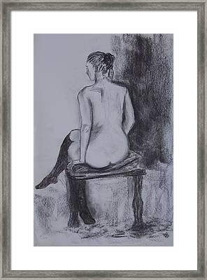 Black Stockings Framed Print by Jolanta Benson