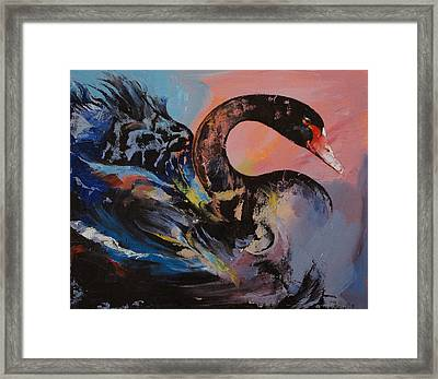 Black Swan Framed Print by Michael Creese