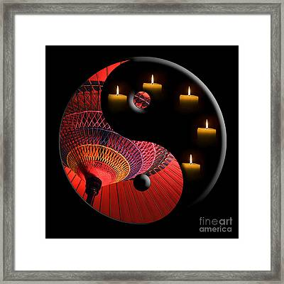 Black Tao Framed Print by Delphimages Photo Creations