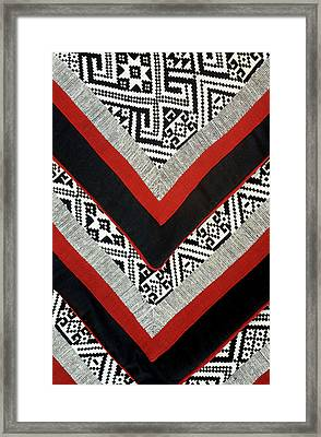 Black Thai Fabric 01 Framed Print by Rick Piper Photography