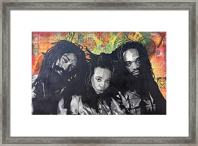 Black Uhuru Framed Print by Josh Cardinali