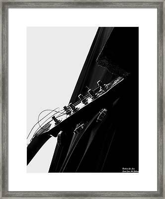 Black Velvet And Lace Framed Print by Barbara St Jean