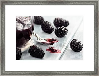Blackberry Jam Framed Print by Stephanie Frey